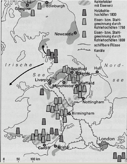 anfang industrialisierung england